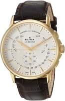 Edox Men's 01602 37J AID Les Bemonts Analog Display Swiss Quartz Brown Watch