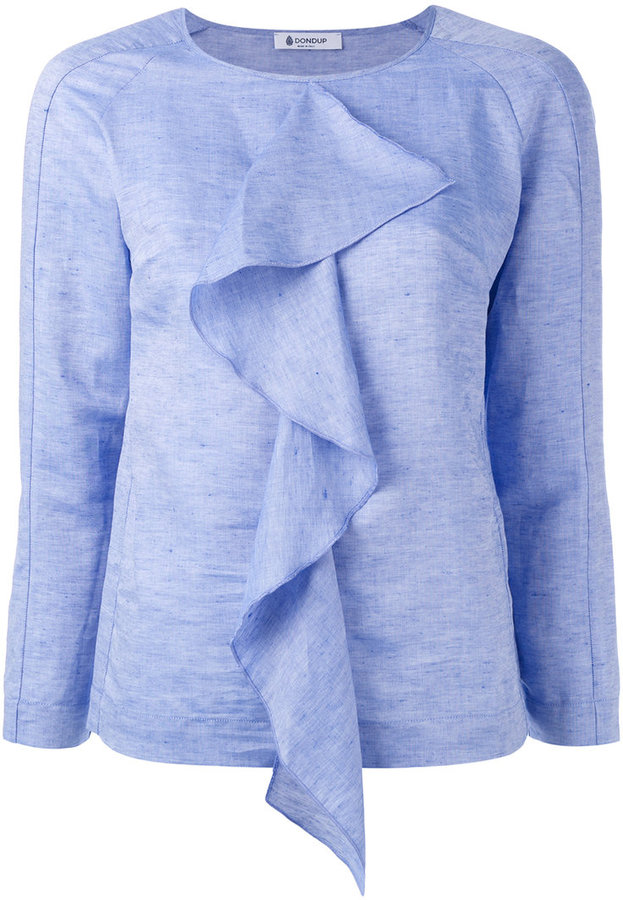 Dondup draped ruffle blouse