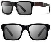 Shwood Men's 'Haystack' 52Mm Wood Sunglasses - Black/ Ebony/ Grey