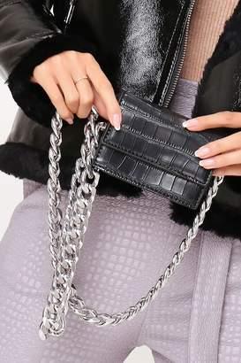 I SAW IT FIRST Black Chunky Chain Mini Side Bag