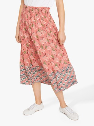 White Stuff Sorrel Crinkle Skirt, Pink