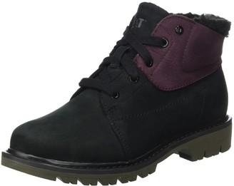 CAT Footwear Women's Fret Fur Wp Boots Black Black/Wine Tasting 8 UK 41 EU