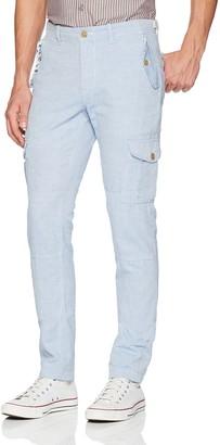 Michael Bastian Men's Signature Linen Cotton Oxford Cargo Pant