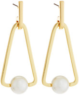 Rebecca Minkoff 12k Gold-Plated Large Triangular Pearly Bead Drop Earrings