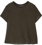 Enza Costa Crinkled Cotton-Gauze Top