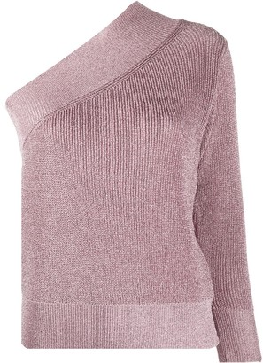 Laneus Metallized One-Sleeve Jumper