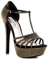 Steve Madden Avory Women US 8.5 Black Platform Sandal