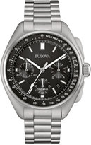 Bulova Men's Chronograph Moon Watch Stainless Steel Bracelet Watch 45mm 96B258