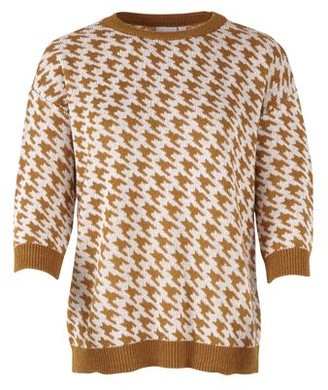 Saint Tropez Dog Tooth Knitted Jumper - M