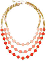 Liz Claiborne Gold-Tone Orange Bead Layered Necklace