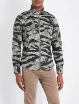 Replay Camo-print cotton-blend shirt