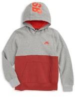 Nike Colorblock Fleece Hoodie (Big Boys)