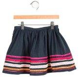 Bonpoint Girls' Embroidered Circle Skirt