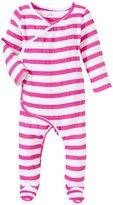 Aden Anais aden anais Kimono Footie (Baby) - Shocking Pink Stripe - 0-3 Months