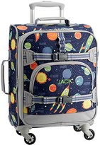 Pottery Barn Kids Mackenzie Navy Solar System Glow-in-the-Dark Small Spinner Luggage