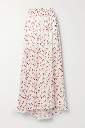 Caroline Constas Hera Printed Chiffon Maxi Skirt - White