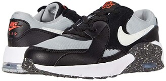 Nike Kids Air Max Excee MTF (Little Kid) (Black/White/Light Smoke Grey/Bright Crimson) Kid's Shoes