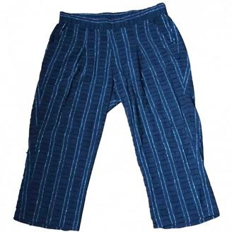 Ace&Jig Black Cotton Trousers for Women
