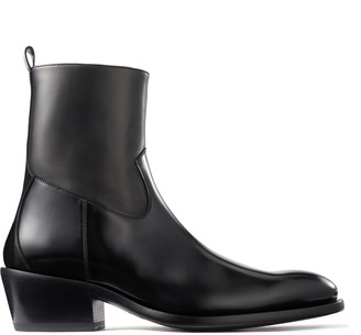 Jimmy Choo JESSE Black Box Calf Boots