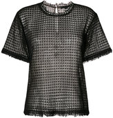 Alexander Wang - lacy T-shirt with