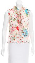 Ungaro Sleeveless Printed Silk Top