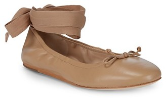 Saks Fifth Avenue Ribbon Leather Ballet Flats