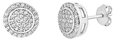 Bliss Sterling Silver & Cubic Zirconia Pavé Stud Earrings