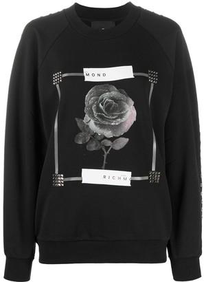 John Richmond rose print T-shirt