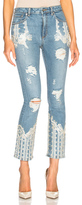 Jonathan Simkhai Diamonte Stove Pipe Jeans in Blue.