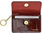 Eel Skin Soft Leather Change Purse Coin Wallet with Key Ring by Marshal