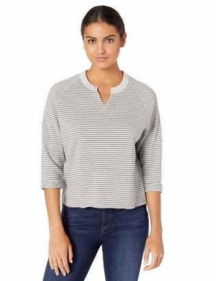 Alternative Women's Champ Remix Striped eco-Fleece Sweatshirt