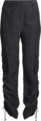 Nicole Miller Habotai Silk Cargo Pants