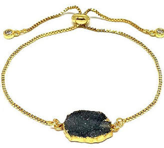 Athena Designs Gold Plated Pull Chain Bracelet with Druzy Electroform Stone