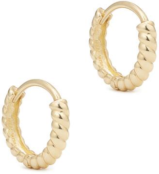 Ariel Gordon Twisted Petite Hoops Earring