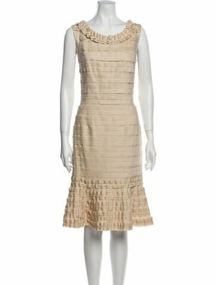 Oscar de la Renta 2011 Midi Length Dress w/ Tags Wool