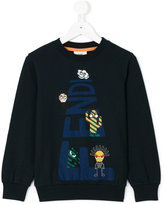 Fendi printed sweatshirt - kids - Cotton/Spandex/Elastane - 3 yrs