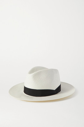 Rag & Bone Grosgrain-trimmed Straw Panama Hat - White