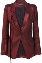 Ann Demeulemeester Linen-blend Textured-lamé Blazer