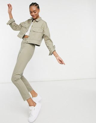 Dr. Denim Nora Straight Leg Jeans Co-ord in Sage