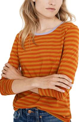 Madewell Northside Long Sleeve Vintage Tee in Driggs Stripe