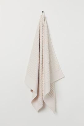 H&M Jacquard-patterned Bath Towel - Beige