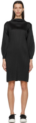 Pleats Please Issey Miyake Black Monthly Colors January Tunic Dress
