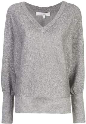 Milly long-sleeve fitted sweater