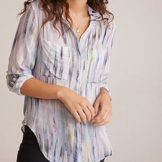 Bella Dahl Hipster Shirt Feathered Print - S