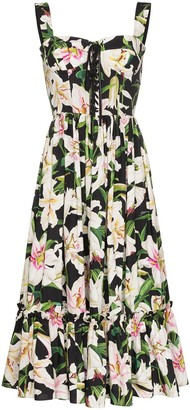 Dolce & Gabbana Lily printed midi dress