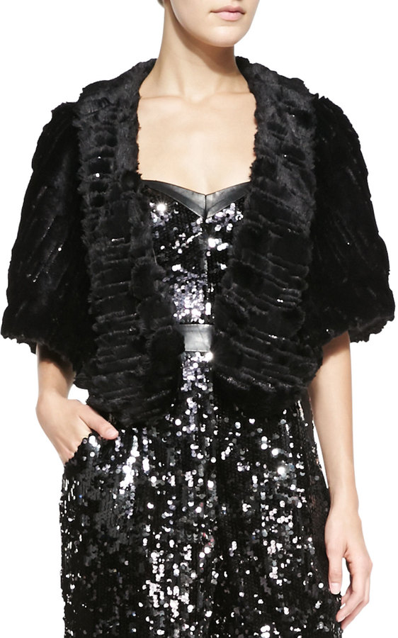 Milly Virginia Faux-Fur Shoulder Wrap