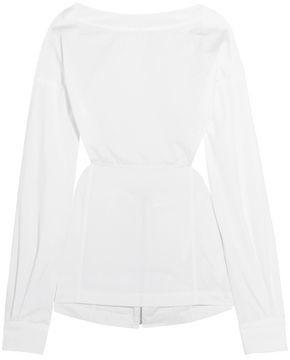 Victoria Beckham Cutout Cotton-poplin Top