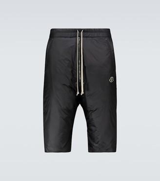 Rick Owens Moncler + long-length shorts