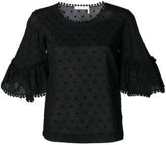 See by Chloe Dot Embroidered Blouse