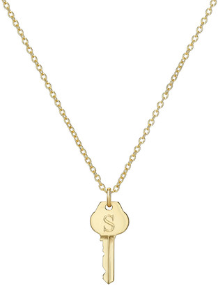 Zoe Lev Jewelry 14k Gold Key Initial Necklace